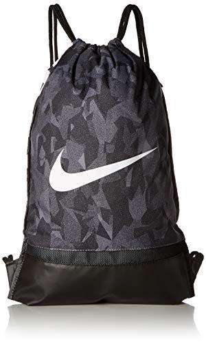 - Nike Brasilia Gymsack - All Over Print 2, Gunsmoke/Black/White, Misc