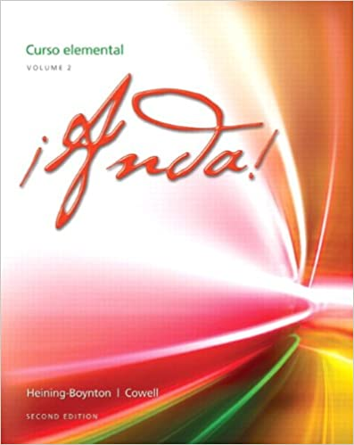 Amazon Com Anda Curso Elemental Volume 2 2nd Edition 9780205239733 Heining Boynton Audrey L Cowell Glynis S Books