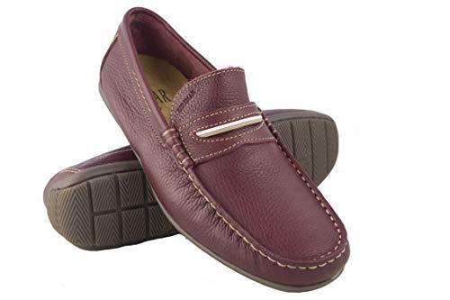 Hombre Náuticos Grandes para Náuticos Hombre Zapatos Piel Mocasines Zerimar Náuticos de 50 Hombre Hombre 46 Burdeos Verano Tallas gq6UwI6Xn
