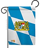 Breeze Decor G158202 Bavaria Flags of The World Nationality Impressions Decorative Vertical Garden Flag 13' x 18.5' Printed in USA Multi-Color