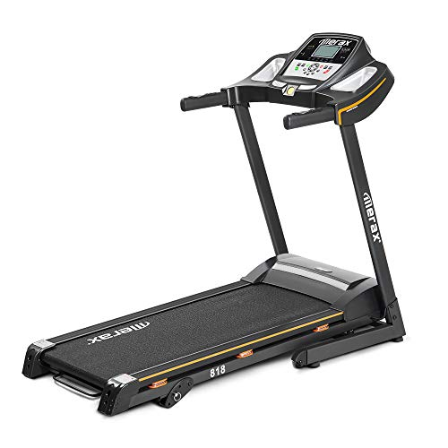 Merax 818 Easy Assembly Electric Folding Treadmill Motorized Running Machine with Wheels