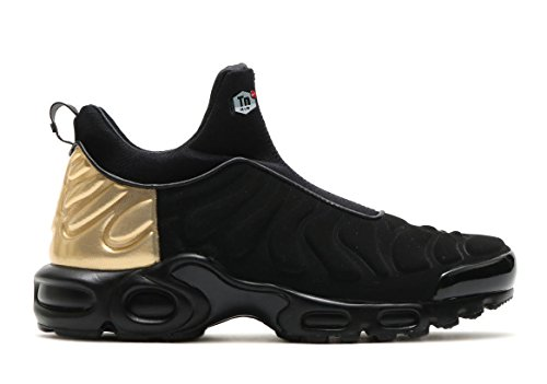 Nike Women's Air Max Plus Slip SP Black Gold 940382 001 Size 9 (Womens Nike Max Gold Air)