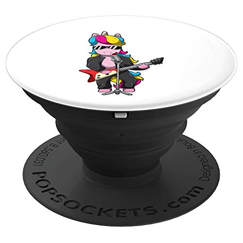 Unicorn Electric Guitar Cool Girl Band Musican Gift - PopSockets Grip and Stand for Phones and -