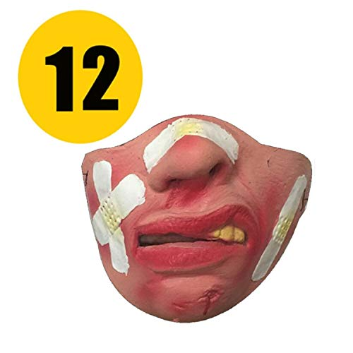 JEWH Rubber holiday terrible scary horror cosplay costume party halloween mask clown adults partys masks face decor decoration -