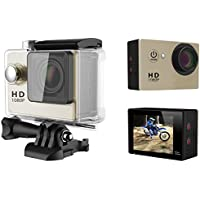 A9 HD 1080P MJPEG 2 inch LCD IP68 30m Waterproof Sports Action Camera DVR (Gold)