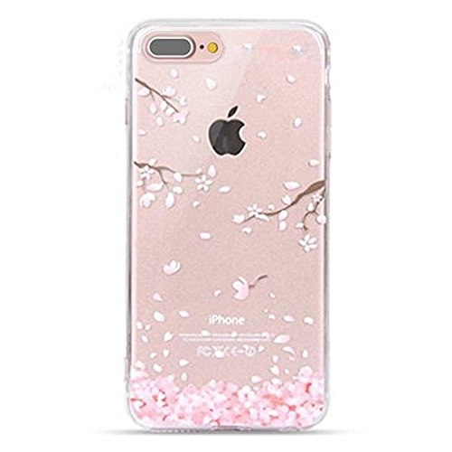 Urberry Iphone 7PLUS Case, New Arrived 5.5 inch Iphone 7PLUS Case, 3d Cherry Leaf Falling Print Case with a Screen Protector