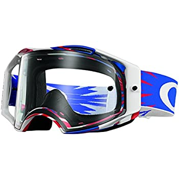oakley goggles white  Amazon.com: Oakley Airbrake MX Goggles (Matte White Speed Frame ...