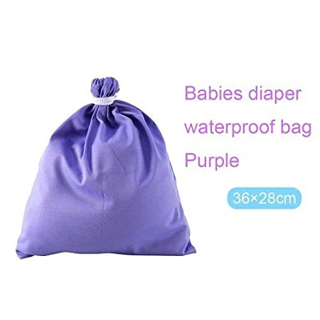 Yellow CWeep Large Site Diaper Bag PUL Waterproof Baby Cloth Diaper Pail Liner Wet Dry Bag Cloth