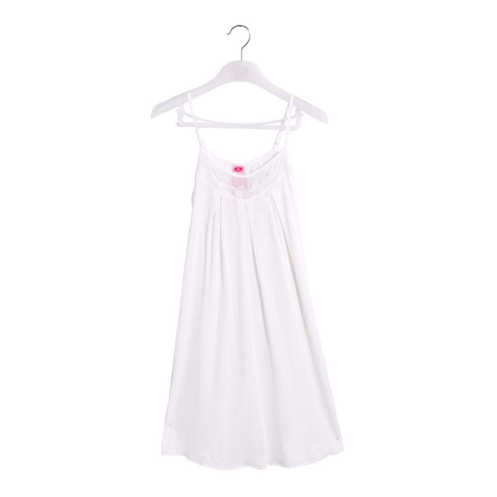 Pajama Sets Home Service Bathrobe Cotton Sling Ladies Pajamas Openwork Flower Bud Female Short Sleep Dress (Size   M)