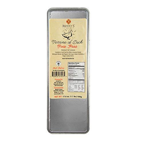 Marky's Caviar Duck Foie Gras Terrine - 1.1 lbs. - Duck Liver Pate Foie Gras