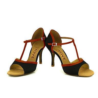 Rojo Blanco Rosa baile Negro Salsa Tacón Personalizado Azul nude Morado de Personalizables Latino Amarillo Zapatos 0wB48X