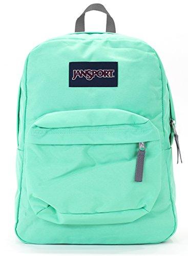 Jansport Superbreak Backpack (seafoam green) (Green Jansport Backpack)