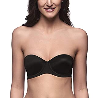 41kLaQuzFHL. SS320 Brachy Women's Padded Spandex Nylon Backless Push-Up Transparent Back Strapless Bra with Multi Strap BCA_DEMIDDSTP01