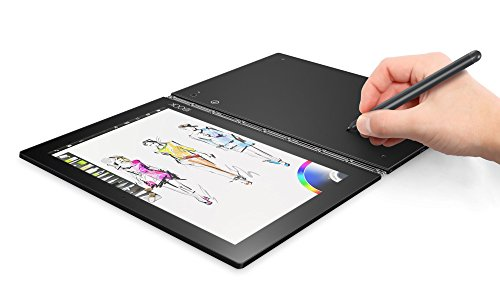 Lenovo Yoga Book 25,65cm (10,1 Zoll Full HD) 2-in-1 Tablet (Intel Z8550 Quad-Core, 2,4GHz, 4GB RAM, 64GB eMMC, Kamera:2MP+8MP, Touch, Dolby Atmos, LTE, Android 6.0) grau inkl. Halo Tastatur+Real Pen