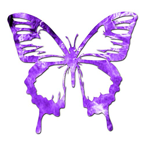 "Butterfly Monarch - Vinyl Decal Sticker - 6.25"" x 5.75"" - Purple Flames from Southern Decalz"
