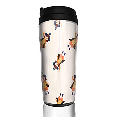 coffee cups for mom Halloween party costume cartoon seamless pattern background 12 oz,coffee cup funny for women]()