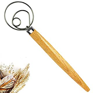 New prominent Original Stainless Steel Danish Dough Whisk Dutch Dough Whisks Bread Dough Whisk for Pastry