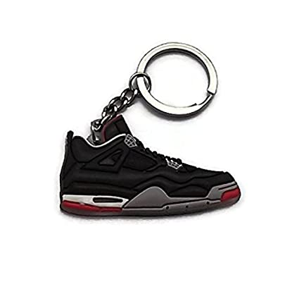 658407f5f504ba Amazon.com  Jordan IV 4 Bred Black Red LS Sneakers Shoes Keychain Keyring  AJ 23 Retro  Automotive