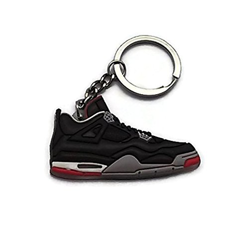 By Jordan Iv 23 4 Aj Keyring Bred Retro Ls Black Shoes Darrellsworld Sneakers red Keychain rrO4w