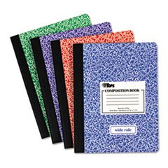 Composition Book W/hard Cover, Legal Rule, 9-3/4 X 7-1/2, White, 100 Sheets By: TOPS by Office Realm