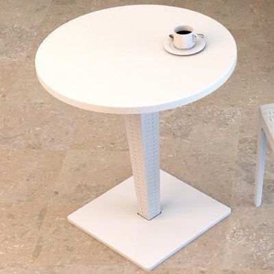 Compamia Riva Werzalit Round Top Dining Table White