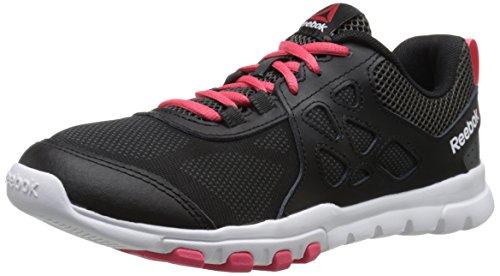 Reebok Women's Sublite Train 4.0 L MT Training Shoe,Black/Gravel/Fearless Pink/White,7.5 M US