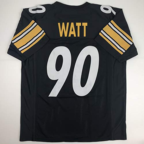 Unsigned TJ T.J. Watt Pittsburgh Black Custom Stitched Football Jersey Size Men's XL New No Brands/Logos