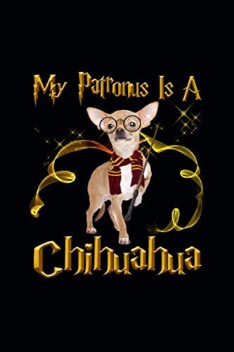 My Patronus is a Chichihuahua: Blank Journal, Wide Lined Notebook/Composition, Dog Pet Lover Owner Spirit Animal, Back to school Gift