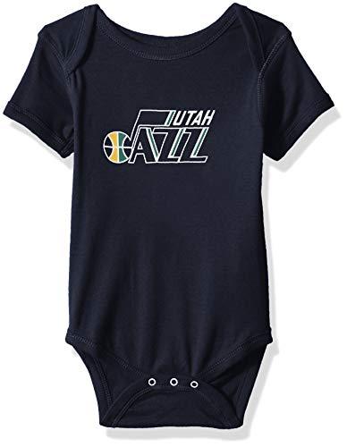 Outerstuff NBA NBA Newborn & Infant Utah Jazz Primary Logo Short Sleeve Bodysuit, Navy, 0-3 Months ()