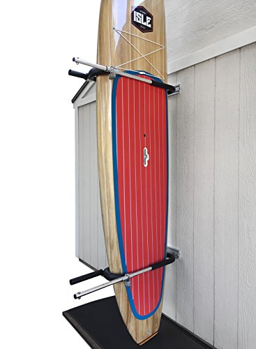 Premium Paddleboard & Surfboard Storage Rack by Gatekeeper Racks | Modern, Sleek Design & Unparalleled Weather Protection | Anti-Theft Wall Mount Locking System | For Vertical and Horizontal Display by Gatekeeper Racks
