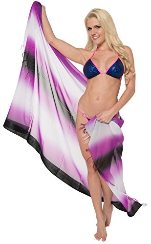 Swimsuit Swimwear Beachwear Cover up Skirt Womens Pareo Sarong Dress Wrap Purple Valentines Day Gifts 2017