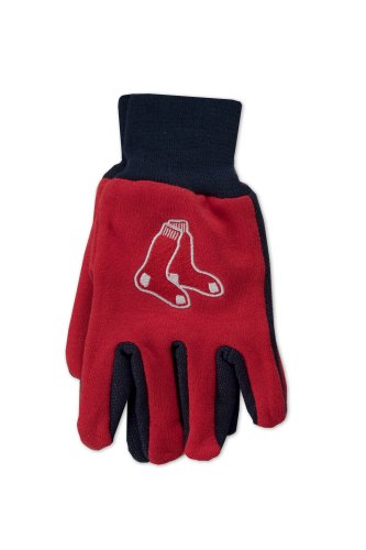 MLB Boston Red Sox Two-Tone Gloves, - Gloves Mlb Sox