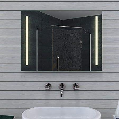 Specchio Bagno 60 X 60.Lux Aqua Design Specchio Da Bagno Con Luce Caldo Freddo 80 X 60