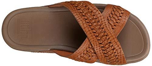 FitFlop-Men-039-s-Surfer-Slide-Woven-Leather-Croc-Embo-Choose-SZ-color thumbnail 9