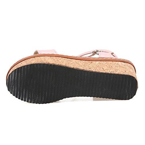 Donna TAOFFEN Flatform Pink Sandali Caviglia Cinturino Scarpe alla AdRqd0r