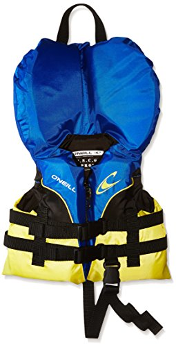 Image of the O'Neill Infant Superlite USCG Life Vest, Pacific/Yellow/Black/Yellow, 0-30 lbs