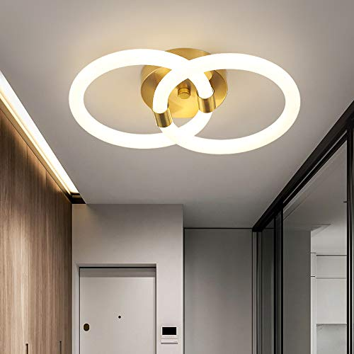 Citra Creative Modern Acrylic Gold Round Shape 18W LED Wall Ceiling Lamp - Warm White