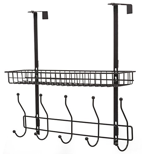STORAGE MANIAC 2 Tiers Over the Door Hook Hanger Shelf Organ