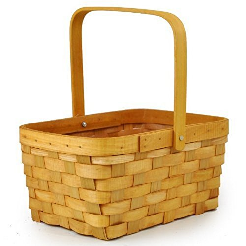Honey Woodchip Swing Handle Basket