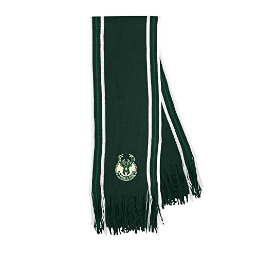 NBA Milwaukee Bucks Stripe Fringe Scarf