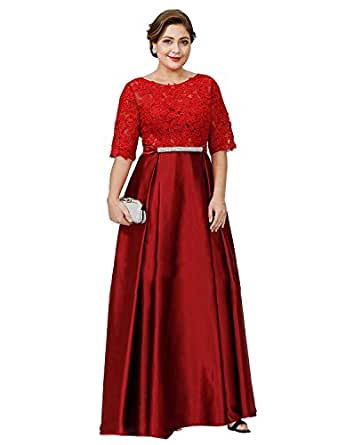 Banfvting Womens Lace Satin Mother Of The Groom Dress Party Gown