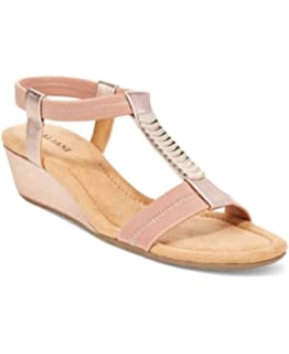 f2ba7c784a8e Alfani Vacay Wedge Sandals Rose Gold 7W