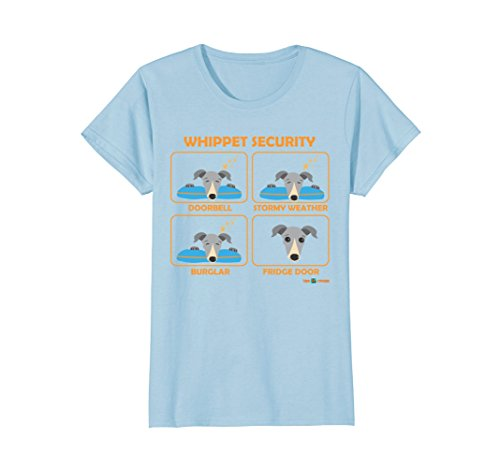 Womens Whippet Security   Funny Whippet gift XL Baby Blue