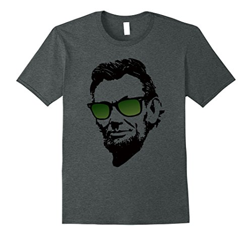 Mens Abe Lincoln in Green Wayfarer Sunglasses and Cool T-Shirts Large Dark - Lincoln Sunglasses