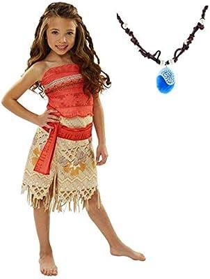La Señorita Vaiana Moana Vestido Disfraz para niña + Collar Vaiana ...