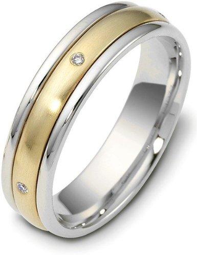 Spinning Diamond Wedding Band Ring - Titanium & 18 Karat Yellow Gold 5mm SPINNING Diamond Wedding Band Ring - 11.5