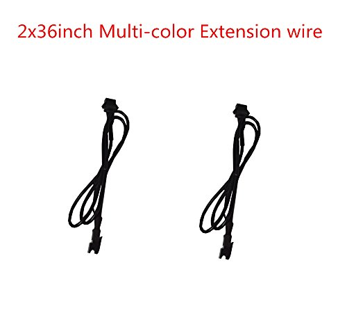 2pc 36inch Extension Cable Wire Cord Set for LED motorcycle ATV car Light Multi-color Neon Strip