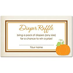48 Little Pumpkin Diaper Raffle Cards