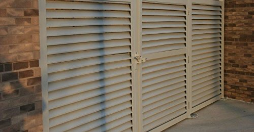 PalmSHIELD 4' x 6' Aluminum Louvered Gate - Gray