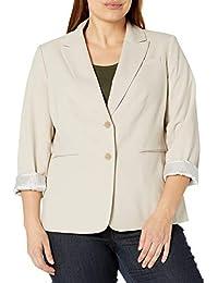 Women's 2 Button Roll Sleeve Jacket